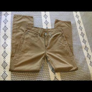 Men's Tan Levi's Jeans Straight Leg